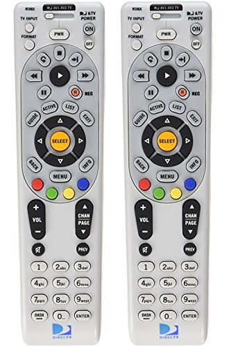 DirecTV RC66X 2 Pack - Replaces RC65, RC65X, RC66 - Works With HR20, H20, HR21, H21, HR22, H23, HR23, H24, HR24, R15, R16, R22,D11, D12 (Directv Remote Rc65)