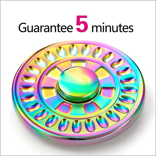 Fidget Spinner, REENUO Ultra Metal Durable Wheel Spinner Fidget Toy Stress Reducer Bearing Anxiety Relief EDC Toys for ADD, ADHD Anxiety Autism Boredom Stress Focus Children and Adults(Rainbow-12)