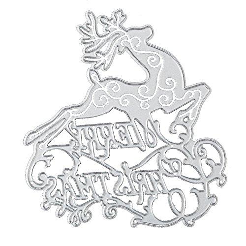 Christmas Cutting Dies for DIY Scrapbook Supplies, Metal Die Cuts for Card Making, DIY Scrapbooking and Embossing Paper Craft (Christmas Deer)