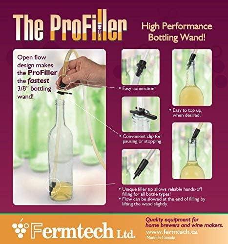 Fermtech COMINHKPR109799 Fermtech ProFiller Bottling Wand for Beer and Wine 1 1