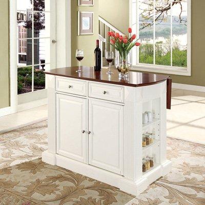Crosley Furniture Drop Leaf Kitchen Island/Breakfast Bar - White from Crosley Furniture