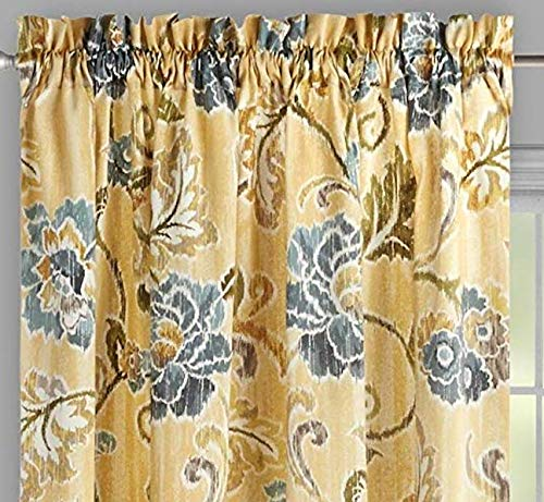 Waverly Traditions by Refresh Pumice Yellow 2-Panel Drapery Pair Set Window Curtains, 104