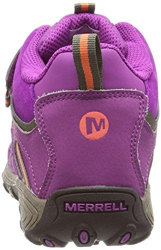 Merrell Light Tech Hike Mid Ac Waterproof, Mädchen Lauflernschuhe Purple (Berry/Coral/Gunsmoke)
