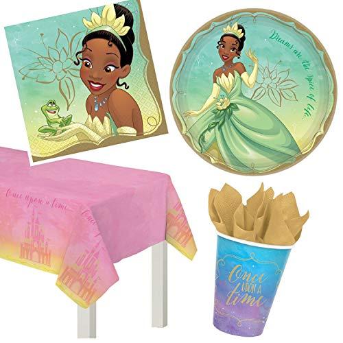 Princess And The Frog Party Ideas - ParteePak Princess Tiana Party Supplies Bundle