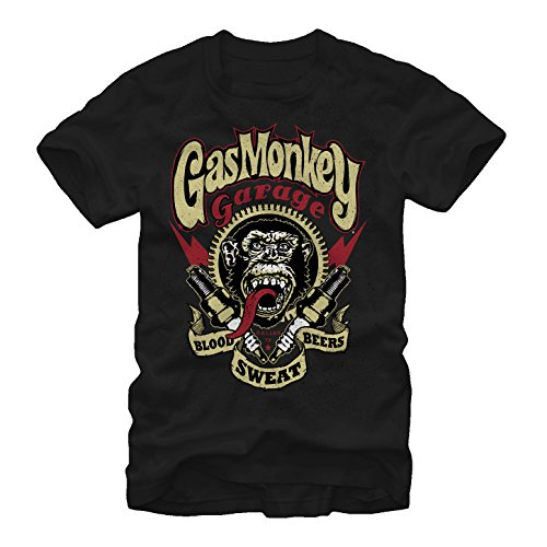 Fifth Sun Gas Monkey Men's Sparky Black T-Shirt