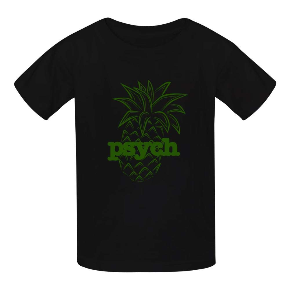 Kids 3D Printed Psych Pineapple Round Collar Short sleeve Kids T Shirt