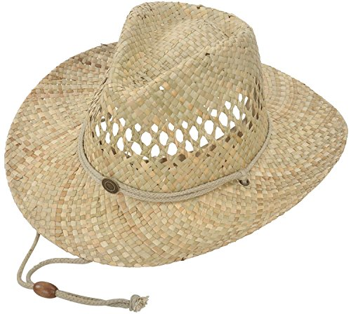 Summer Cool Straw Western Cowboy Sun Hats for Men & Women Shapeable Brim, One size fits most