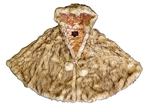 Lilly Patricia Crystal Fox Faux Fur Poncho
