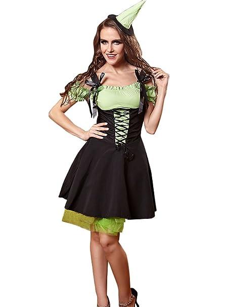 YueLian Mujeres Chicas Halloween Cosplay Plisado Algodón de Lujo ...