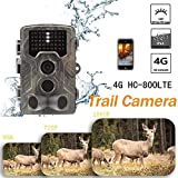 puremood Hunting Video 4G Outdoor MMS Hunting Camera Waterproof 16MP Full HD Hidden Camera Night Vision Trail Camera Supports Full-Size Photos and Small Video Transmission