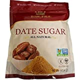 Royal Palm 100% Pure Date Sugar (16 oz), All Natural, Certified Vegan, Gluten Free, NON-GMO Verified, Kosher