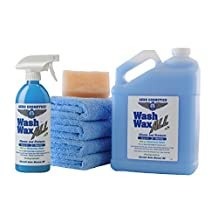 Waterless Car Wash Wax Kit 144 oz. Aircraft Quality Wash Wax for your Car RV & Boat. Guaranteed Best Waterless Wash on the Market #1 Best Seller on Amazon U.S.