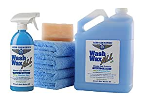 Waterless Car Wash Wax Kit 144 oz. Aircraft Quality Wash Wax for your Car RV & Boat. Guaranteed Best Waterless Wash on the Market