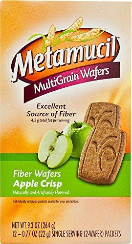 Metamucil MultiGrain Wafers Apple Crisp   Metamucil   Beautil