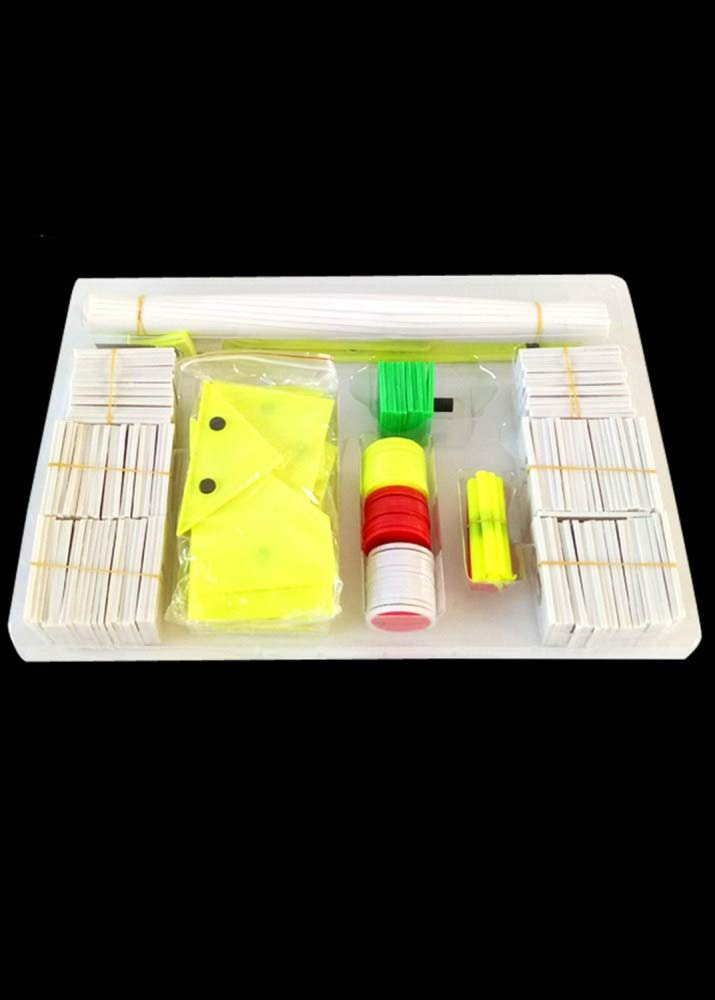 Juler Lernspielzeug STEM Toys Science Kits Magnetische Lehrmittel Grundschule Mathematische Lehrmittel,Weiß,Einheitsgröße