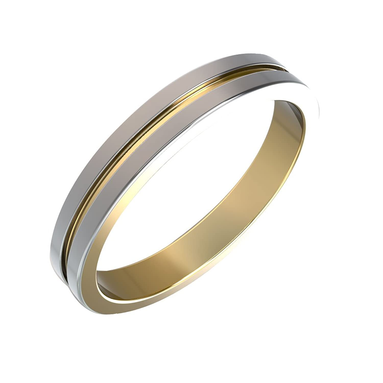 White Gold Wedding Band.14k Dual Tone Wedding Bands In White Gold And Yellow Gold Wedding Bands For Her