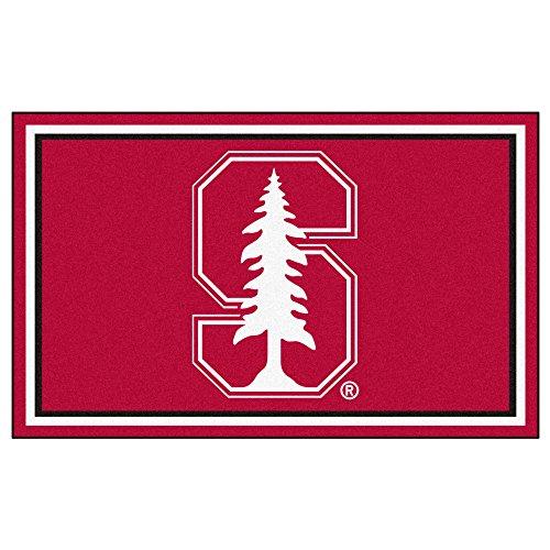 - FANMATS NCAA Stanford University Cardinal Nylon Face 4X6 Plush Rug
