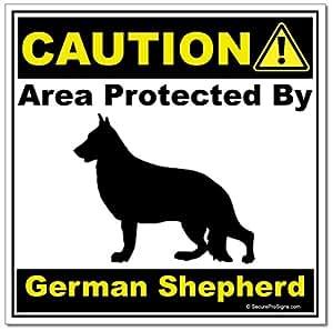 Amazon.com: German Shepherd - Caution - Area Protected By