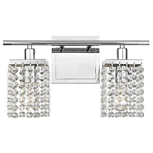 2-Light Crystal Bathroom Vanity Light