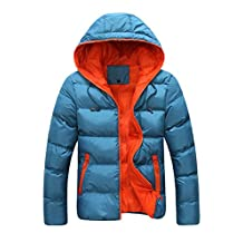 AK Men Women Winter Casual Hooded Light Padded Jacket Zipper Slim Outwear Coat