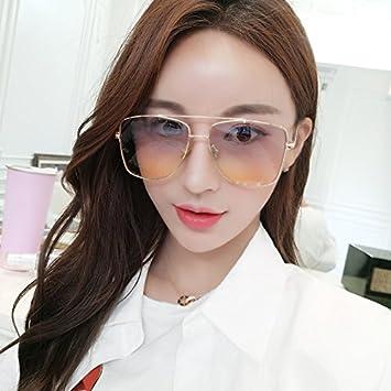 Gafas de sol cuadradas de dos colores, grandes, para mujer ...