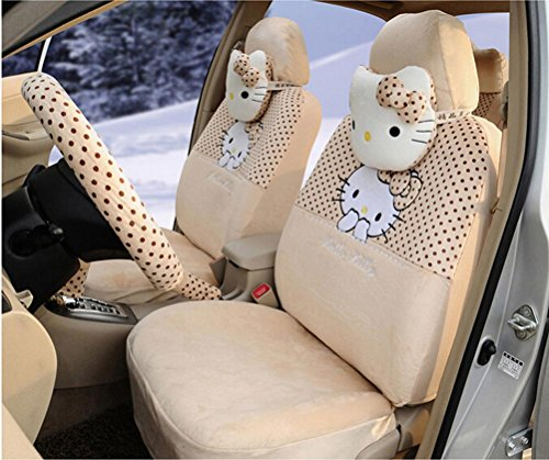 18pcs-cute-cartoon-car-seat-cover-car-steering-wheel-cover-ice-silk-universal-car-front-and-rear-sea