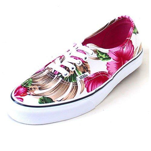 d1554f37372a Vans Authentic Hawaiian Floral White Skateboarding Shoes (Men 3.5  Women 5)