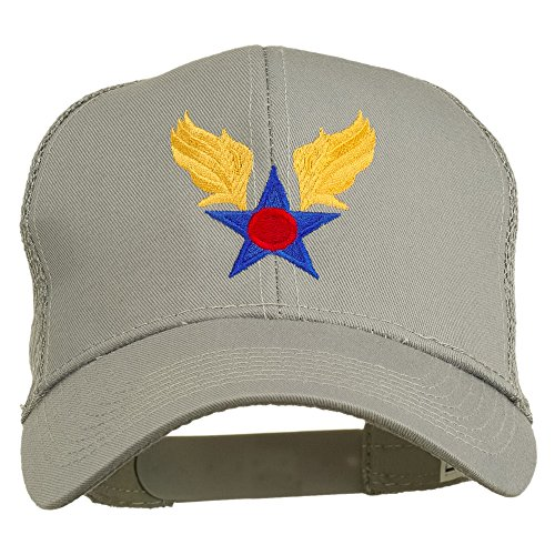 e4Hats.com Army Air Corps Military Embroidered Mesh Back Cap - Grey OSFM