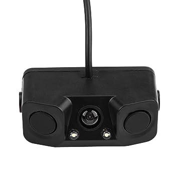 Cámara de visión trasera con video de marcha atrás visual 3 en 1 con sensor de