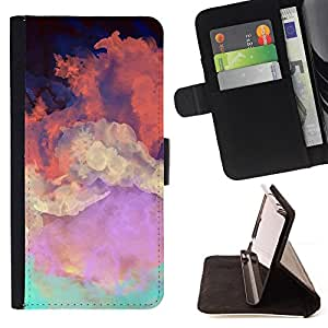 Jordan Colourful Shop - sky painting colorful art orange clouds For Apple Iphone 6 PLUS 5.5 - Leather Case Absorci???¡¯???€????€??????&acir