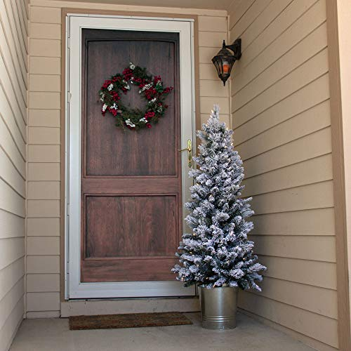 Home Heritage 4.5 Feet Entry Way PVC Pre Lit Artificial Christmas Tree w/Stand ()