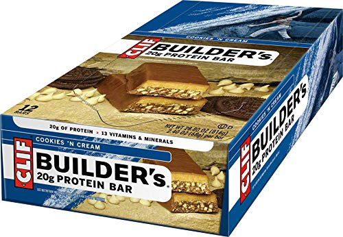 Clif, Bar Builders Cookies N Cream, 2.4 Ounce, 12 Pack
