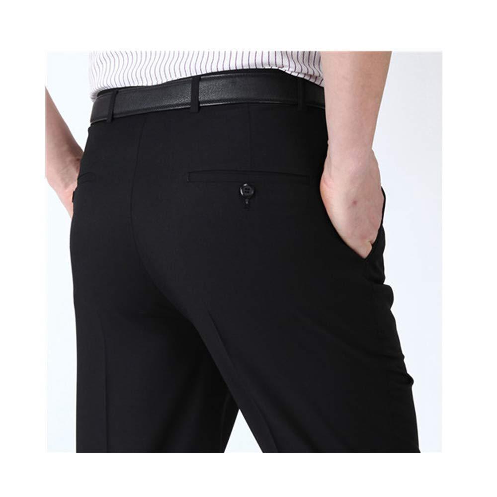 ZFADDS Mens Suit Pants Silk Dress Pants Straight Long Trousers Anti Wrinkle Business Dress Pants 907 Black 38