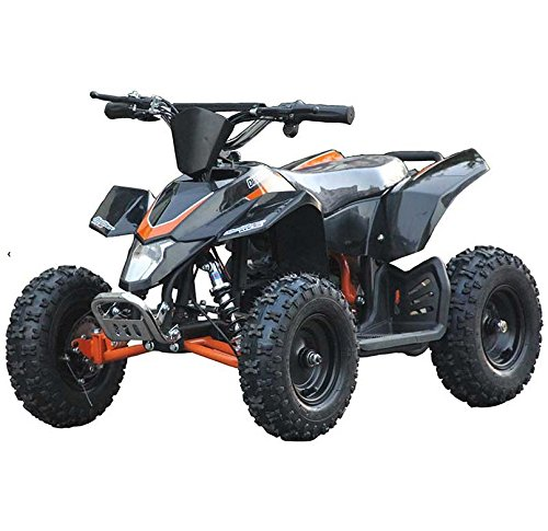 Outdoor Kids Children Sahara X 24V Black Mini Quad ATV Dirt Motor Bike Electric Battery Powered