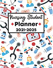 Nursing Student Planner 2021-2025: Large 5 Year Nurse Planner 2021 2025 | Student Nurse Planner 2021-2025 | Five Year Planner for Nursing Students 2021-2025 | 60 Month Diary Planner Organizer Calendar | Nursing Student Gifts