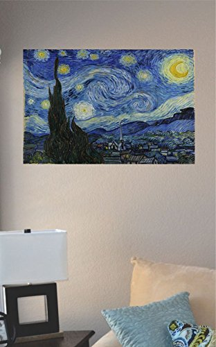 Van Gogh Starry Night Painting Vinyl Wall Art Decal Sticker