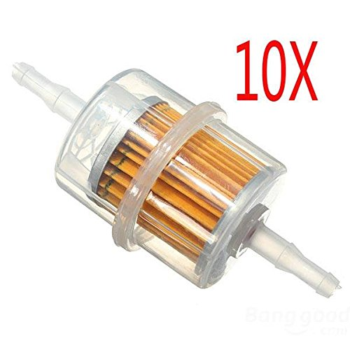 Mark8shop 10 x Car Parts Lagre Inner Fuel Filters Auto Petrol 6mm 8mm Pipe: