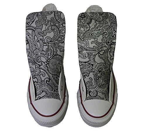 Converse All Star Customized - zapatos personalizados (Producto Artesano) Black & White Paisley