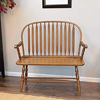 product image for Carolina Chair and Table Windsor Bench American Oak