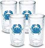 TERVIS Tumbler, 16-Ounce,'Blue Crab', 4-Pack