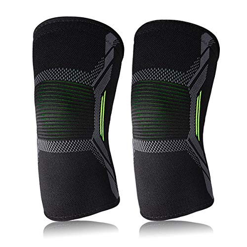 Usione 3DKneeBraceSupport(1 Pair),KneeCompressionSleeves Women&Men,Running,Hiking, Jogging, Joint Pain & Arthritis Relief, ACL, MCL,Injury Recovery, Basketball, Workout (M)