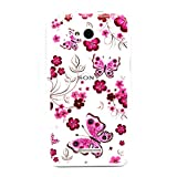 For Sony Xperia E4g , ivencase Beautiful Flower and Butterfly Rilievo Carved Slim Pattern [Ultra Thin] Flexible Texture Soft TPU Gel Rear Bumper Protective Skin Case Cover Perfect Fit for Sony Xperia E4g / Sony Xperia E4g E2003 E2006 E2053 + One