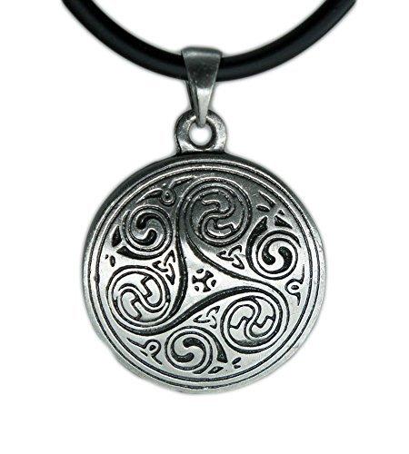 (Exoticdream Triskele I Magic Merlin Celtic Pewter Pendant + 18