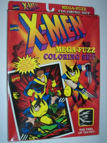 Craft House Vintage Marvel Comics X-Men Mega Fuzz Picture Coloring Set Playset