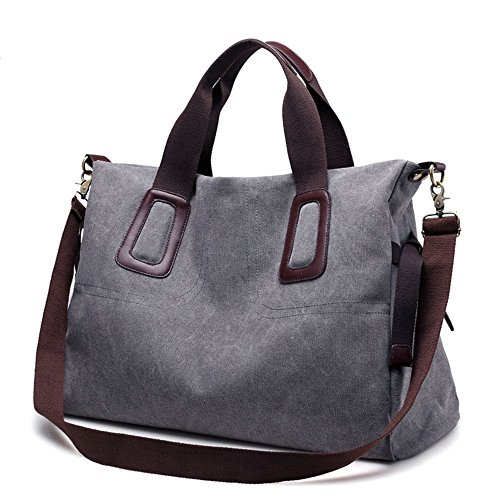 Asdflina Color Large Handbag Bag Suitable capacity Retro for Commuter Leisure everyday Large Canvas Capacity use Solid wrrdfTx0q