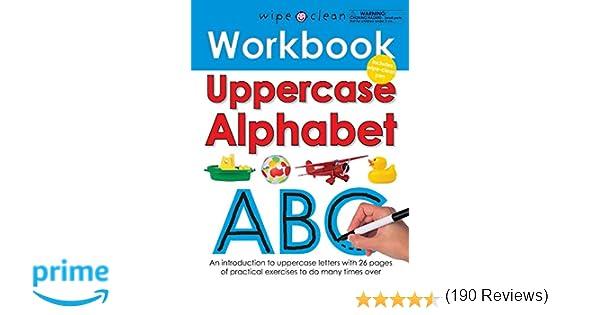 Amazon.com: Wipe Clean Workbook Uppercase Alphabet (8601420168121 ...