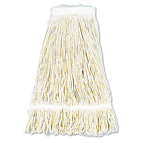 (O'Dell Pro Loop Web/tailband Wet Mop Head, Cotton, 24oz, White, New)
