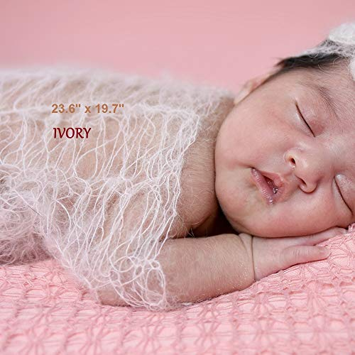 Photoset consisting of baby hat and mohair wrap for newborns Wrap set sky blue - Newborn photoshoot Fotoprops