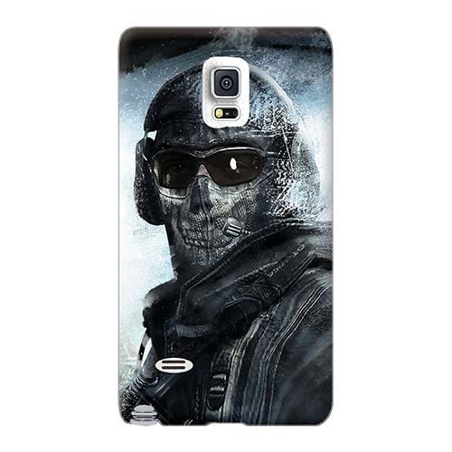 Best Cell-phone Hard Covers For Samsung Galaxy Note 4 (SQe1608nHRC) Customized Colorful Call Of Duty Modern Warfare 2 Ghost Pattern