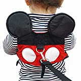 flashbluer Toddler Anti-lost Harness Belt with Safety Leash Cute Mini Strap for Boys or Girls Ages 1-3 Years Perfect for the Zoo, Disneyland or Mall